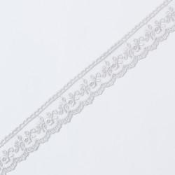 Кружево на сетке KRUZHEVO 25мм серый