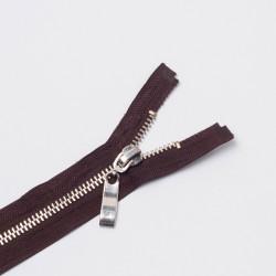Молния металл Т8 75см разъемная коричневый/серебро
