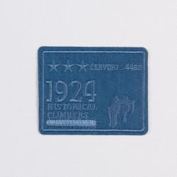 """Термоаппликация """"1924"""" синий 8,5х6,7см"""