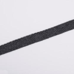 Шнур плоский плетеный 15мм антрацит