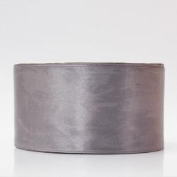 Лента атлас, 50мм т.серый