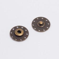 Кнопка пришив. металл 25мм антик