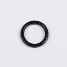 Кольцо пластик 8мм черный