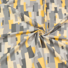 УЦЕНКА  Футер 2х нитка компакт пенье диджитал принт серый абстракция 2009000323827