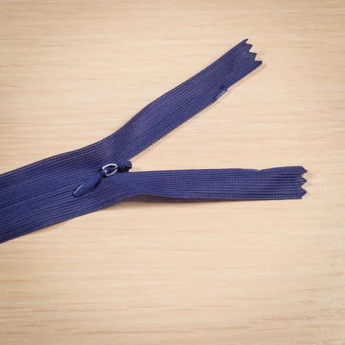 Молния потайная Т3 50 см Китай синий темный