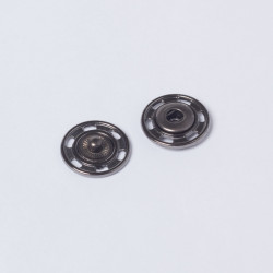 Кнопка пришивная металл 18мм черн.никель