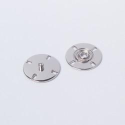 Кнопка пришивная металл 23мм никель