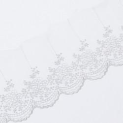 Кружево на сетке KRUZHEVO 100мм серый