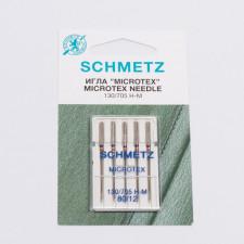 """Иглы машинные """"Schmetz"""" микротекс №80 5шт/уп"""