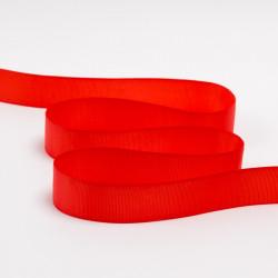 Тесьма репсовая 25мм красный