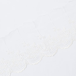 Кружево на сетке KRUZHEVO 100мм молочный