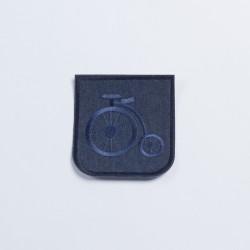 Термозаплатка джинсовая 10х9,5см велосипед
