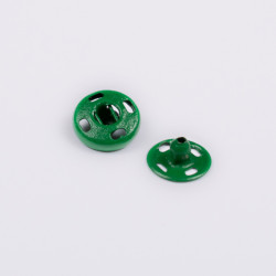 Кнопка пришив. металл 9мм зеленый