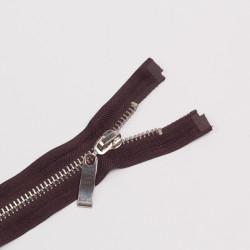 Молния металл Т8 70см разъемная коричневый/серебро