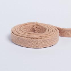 Шнур плоский плетеный 13мм бежевый