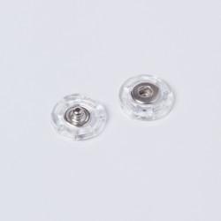 Кнопка пришивная металл 18мм прозрачный