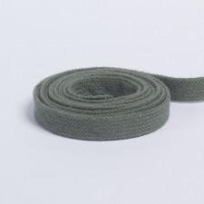 Шнур плоский плетеный 13мм оливковый
