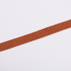 Шнур плоский плетеный 15мм морковь