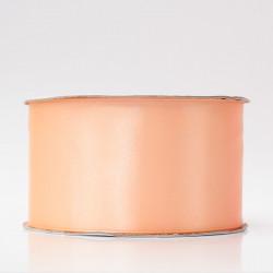 Лента атлас, 50мм персиковый