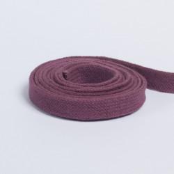 Шнур плоский плетеный 13мм сиреневый