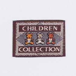"Термоаппликация ""Children Collection"" коричневый 3,5х2,5см"