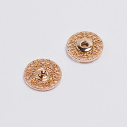 Кнопка пришивная металл 21мм золото