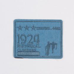 "Термоаппликация ""1924"" голубой 8,5х6,7см"