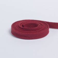 Шнур плоский плетеный 13мм терракот