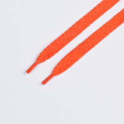 Шнурки обувные плоские 10мм 150см пара оранжевый
