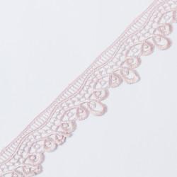 Кружево плетеное KRUZHEVO 40мм пыльная роза