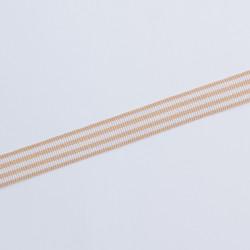 Лента лампасная 15мм беж/бел