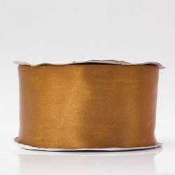 Лента атлас, 50мм золотисто-коричневый