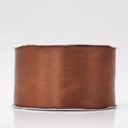 Лента атлас, 50мм коричневый