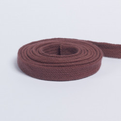 Шнур плоский плетеный 13мм кофе