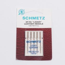 """Иглы машинные """"Schmetz"""" кожа №70 5шт/уп"""