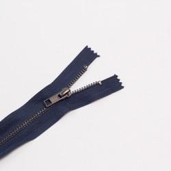 Молния металл Т5 18см джинс т.синий/оксид
