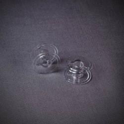 Шпулька пластик прозр.