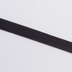 Косая бейка атлас, 15мм черный