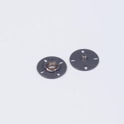 Кнопка пришивная металл 21мм т.серый