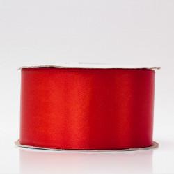 Лента атлас, 50мм красный