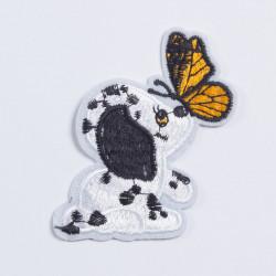 """Термоаппликация """"Собака с бабочкой"""" 8,5×7см"""