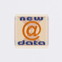 "Термоаппликация ""New @ Data"" 3,2х3,3см"