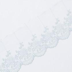 Кружево на сетке KRUZHEVO 100мм голубой