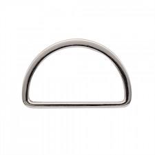 Полукольцо металл литое 50х28мм никель
