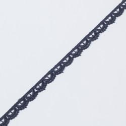 Кружево плетеное KRUZHEVO 10мм т.синий