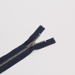 Молния металл Т5 18см джинс синий/никель