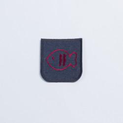 Термозаплатка джинсовая 8х7см рыбка