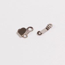 Крючок брючный 15х11мм металл никель