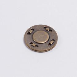 Кнопка пришивная магнитная 20мм латунь