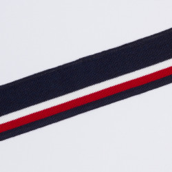 Подвяз трикотаж 3,5х80см полосы т.синий/белый/бордо